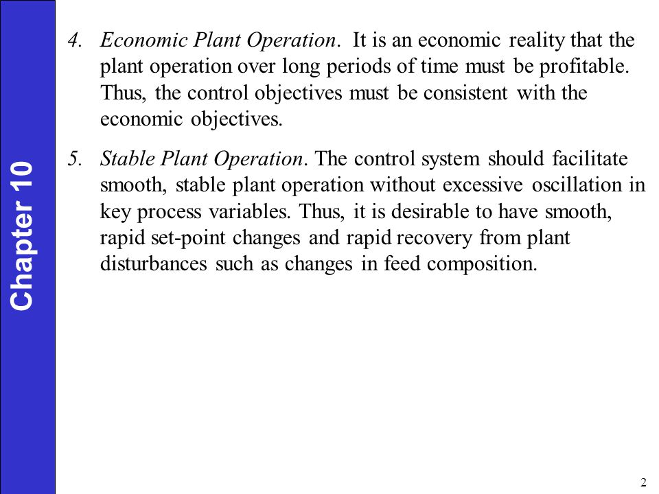 Economic Plant Operation