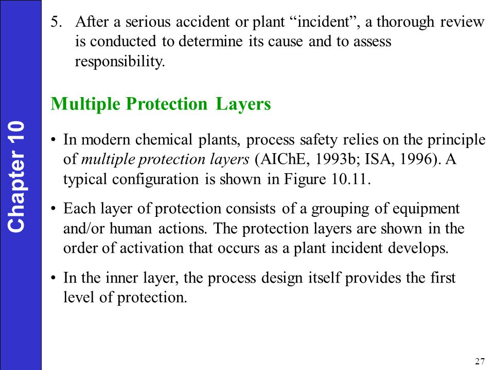 Chapter 10 Multiple Protection Layers