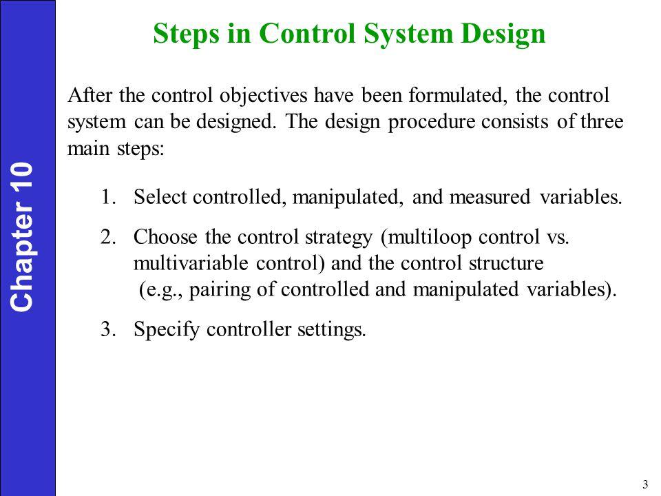 Steps in Control System Design