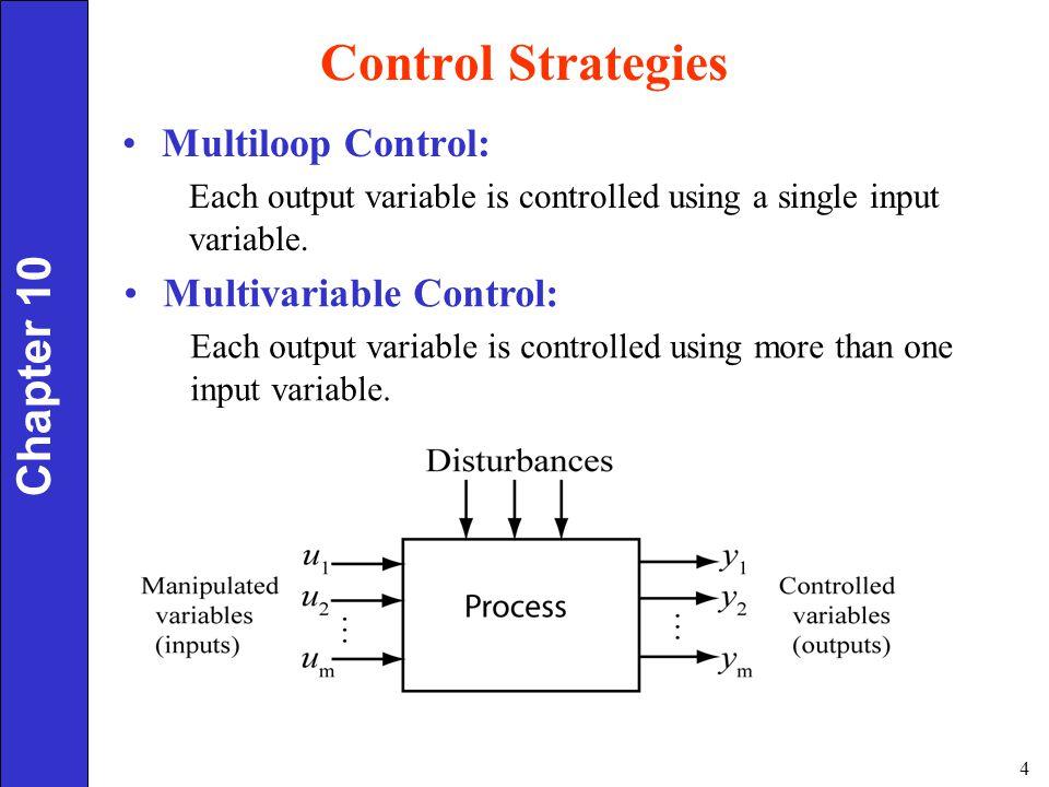 Control Strategies Chapter 10 Multiloop Control:
