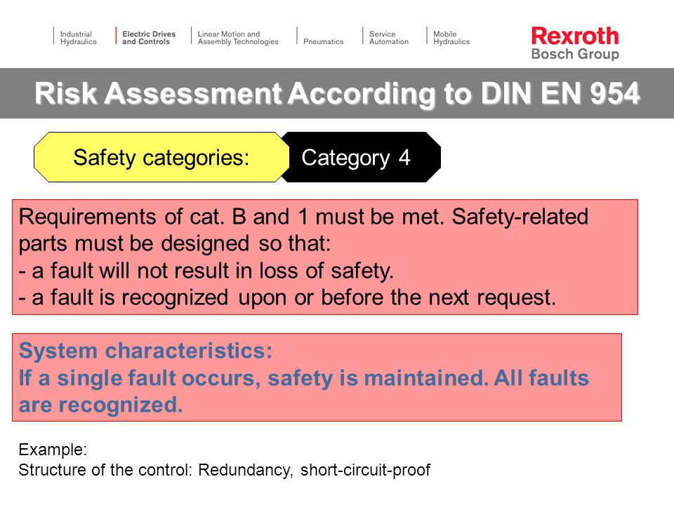 Risk Assessment According to DIN EN 954
