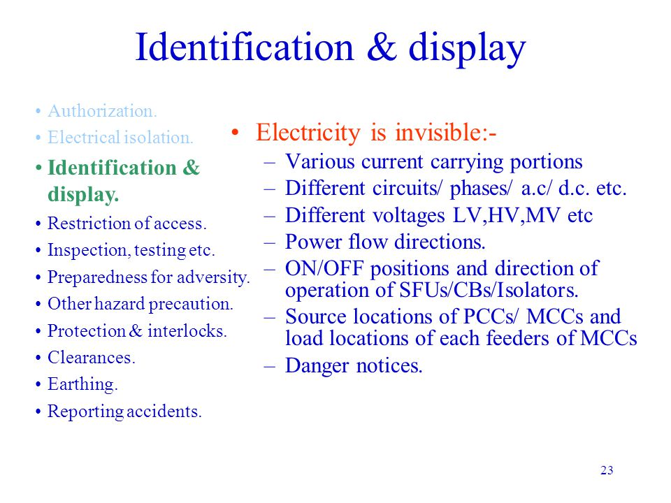 Identification & display