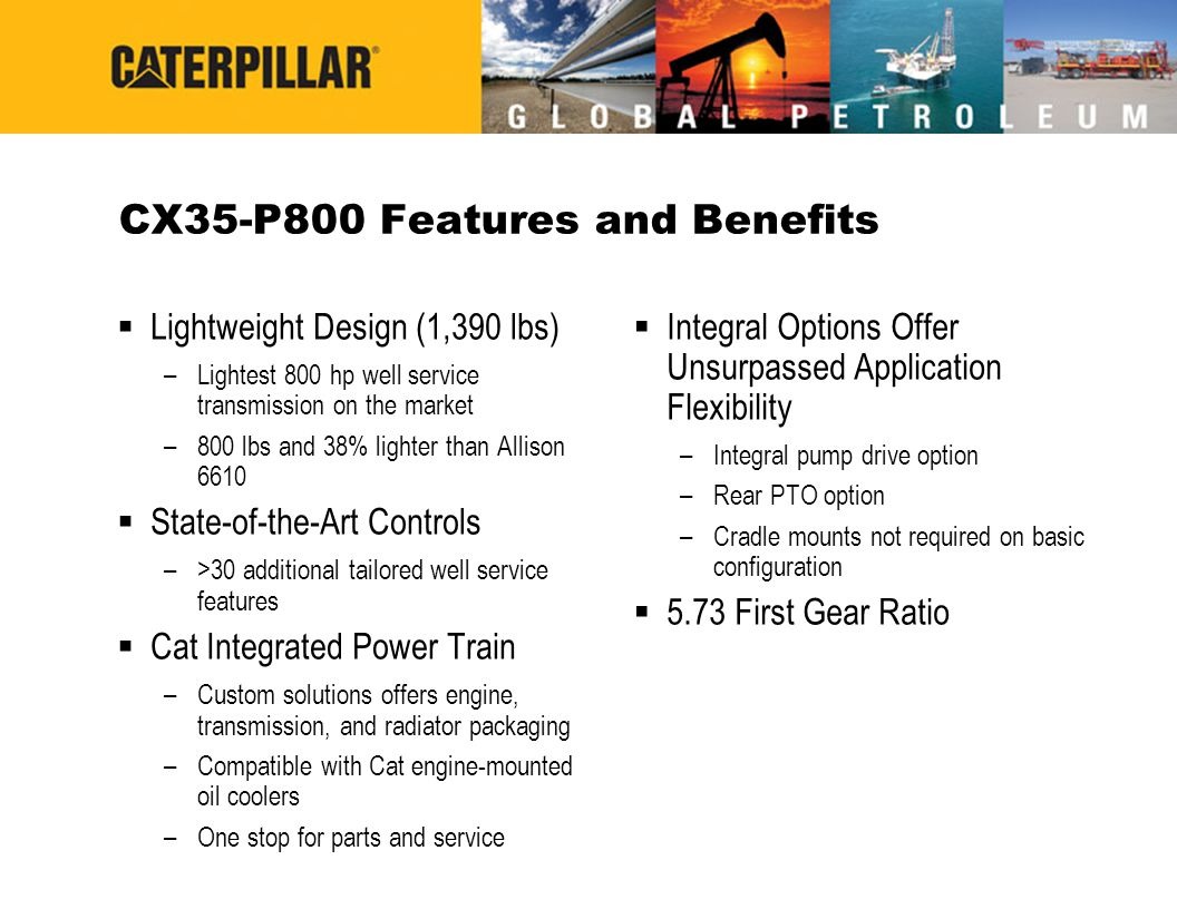 CX35-P800 Features and Benefits