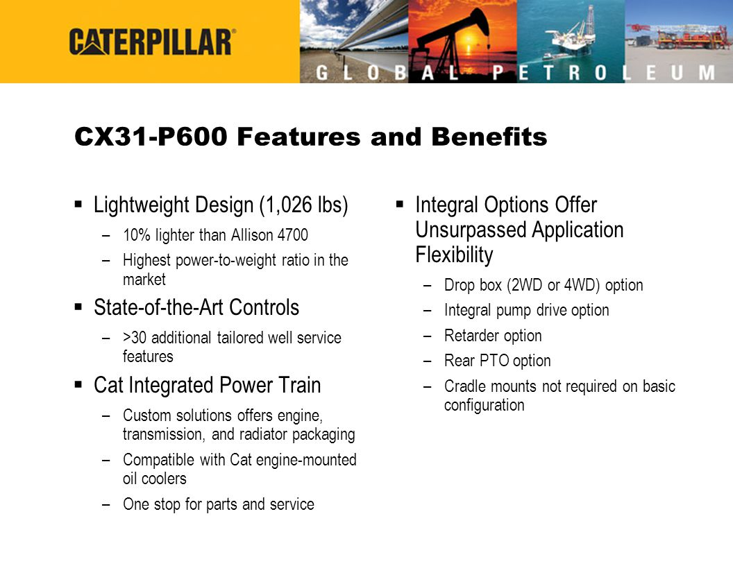 CX31-P600 Features and Benefits