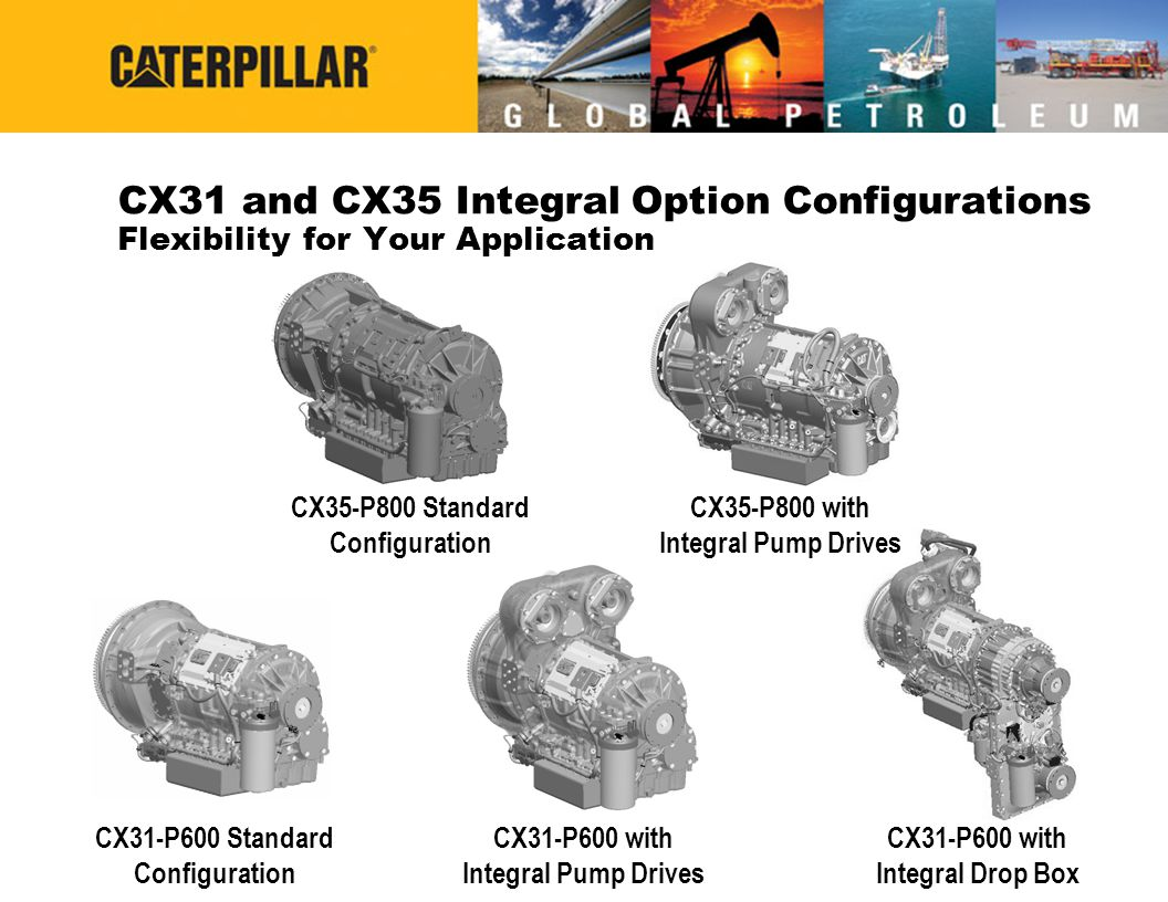 CX31 and CX35 Integral Option Configurations Flexibility for Your Application