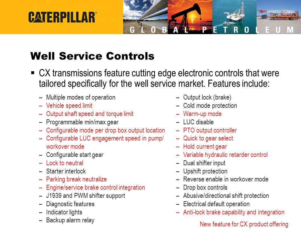 Well Service Controls
