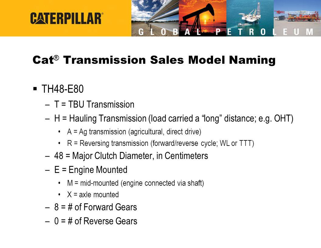 Cat® Transmission Sales Model Naming