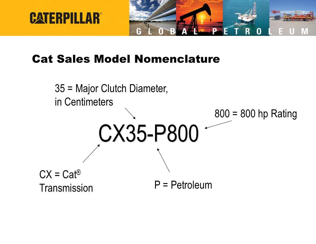 Cat Sales Model Nomenclature