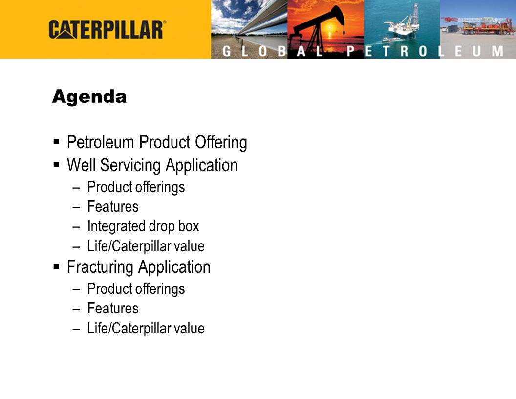 Petroleum Product Offering Well Servicing Application