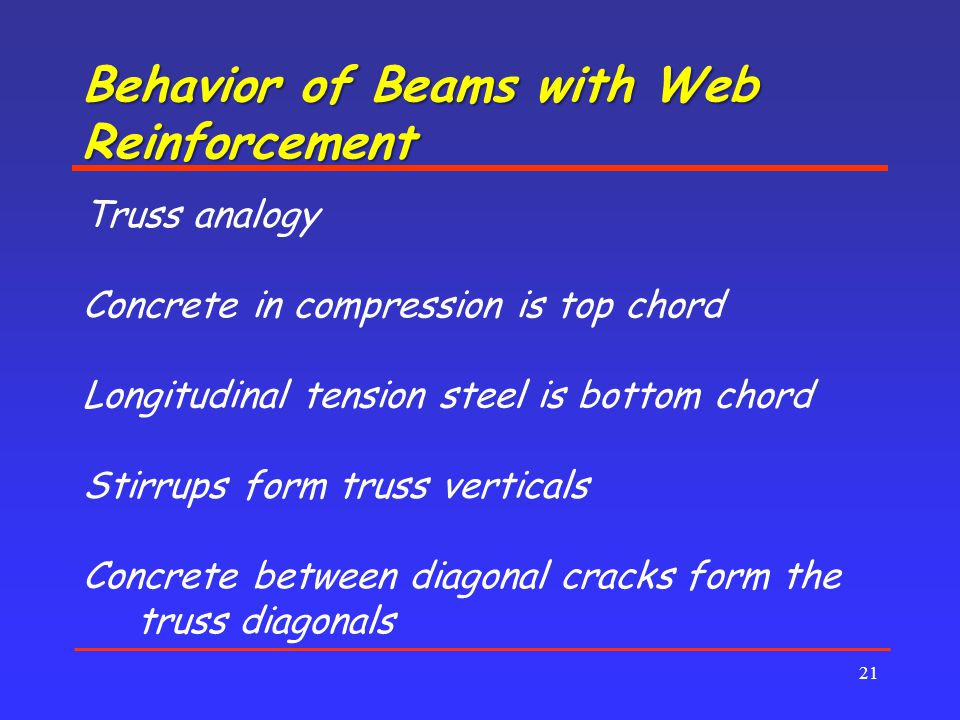Behavior of Beams with Web Reinforcement