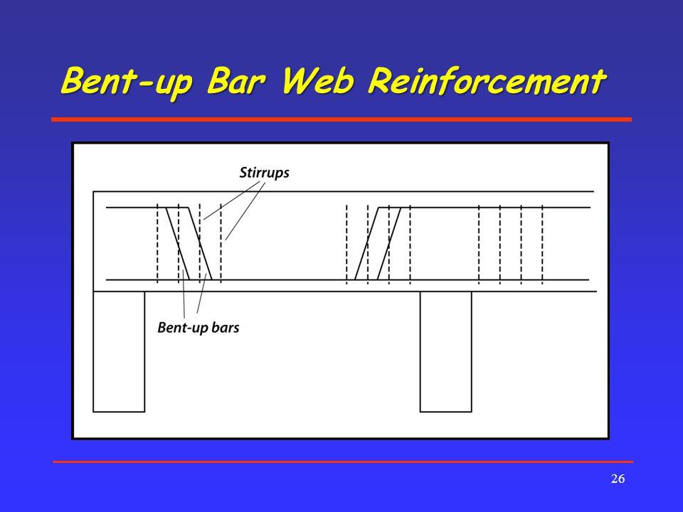 Bent-up Bar Web Reinforcement