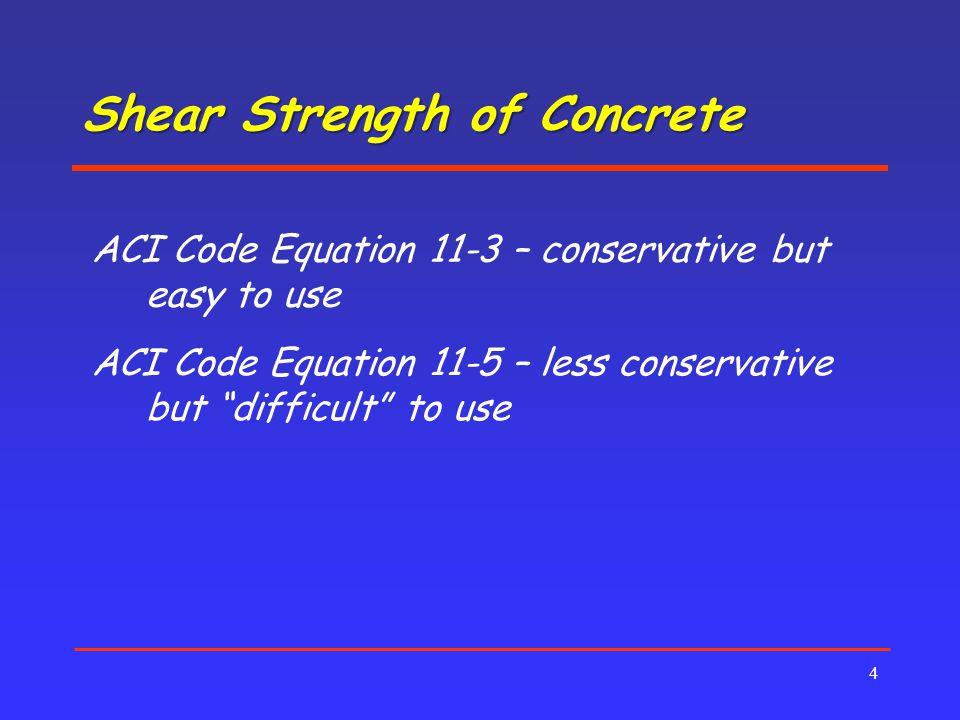 Shear Strength of Concrete
