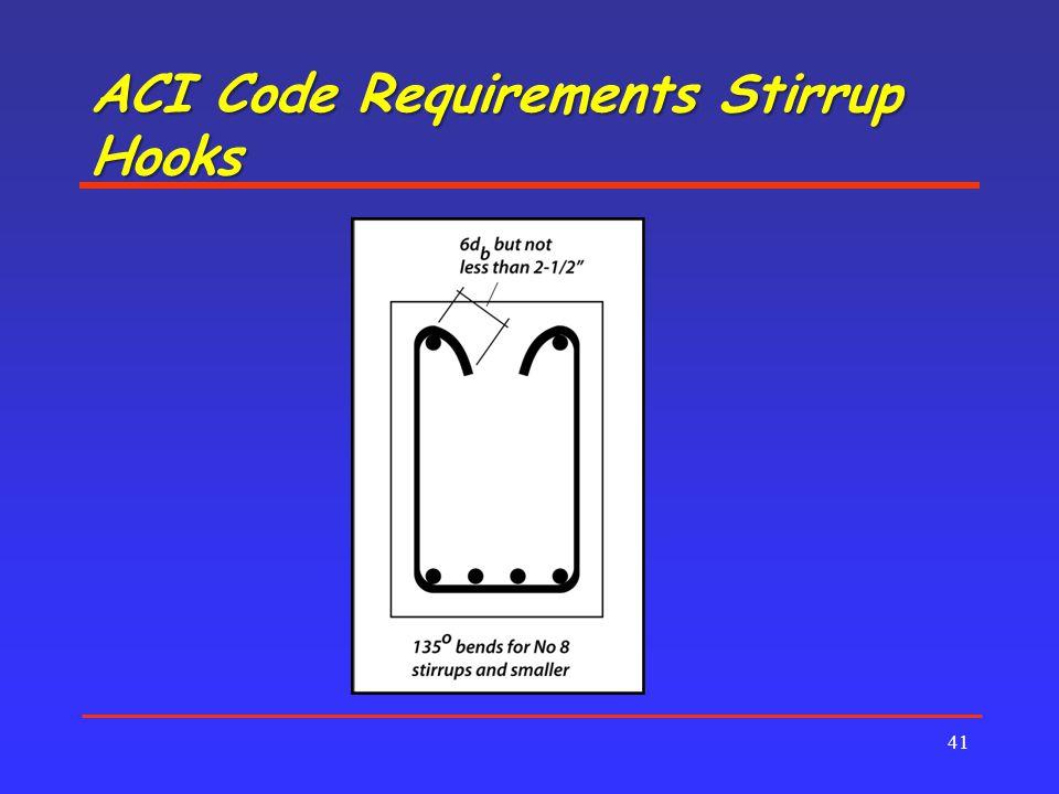 ACI Code Requirements Stirrup Hooks