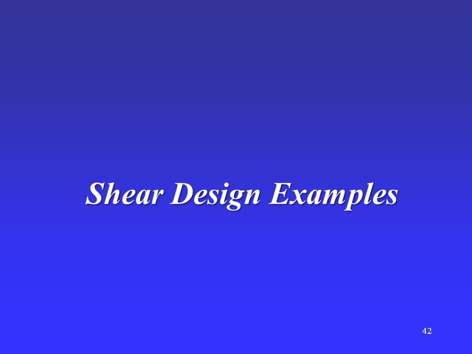 Shear Design Examples