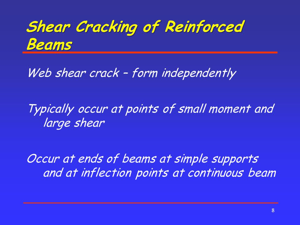 Shear Cracking of Reinforced Beams