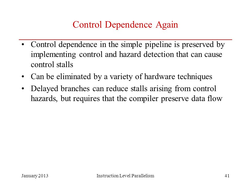 Control Dependence Again