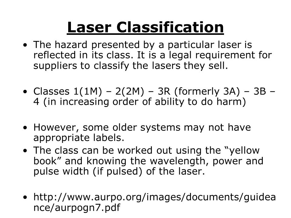 Laser Classification