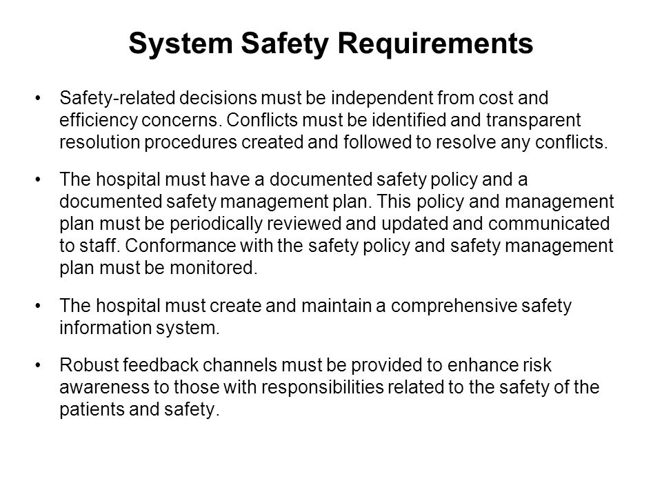 System Safety Requirements