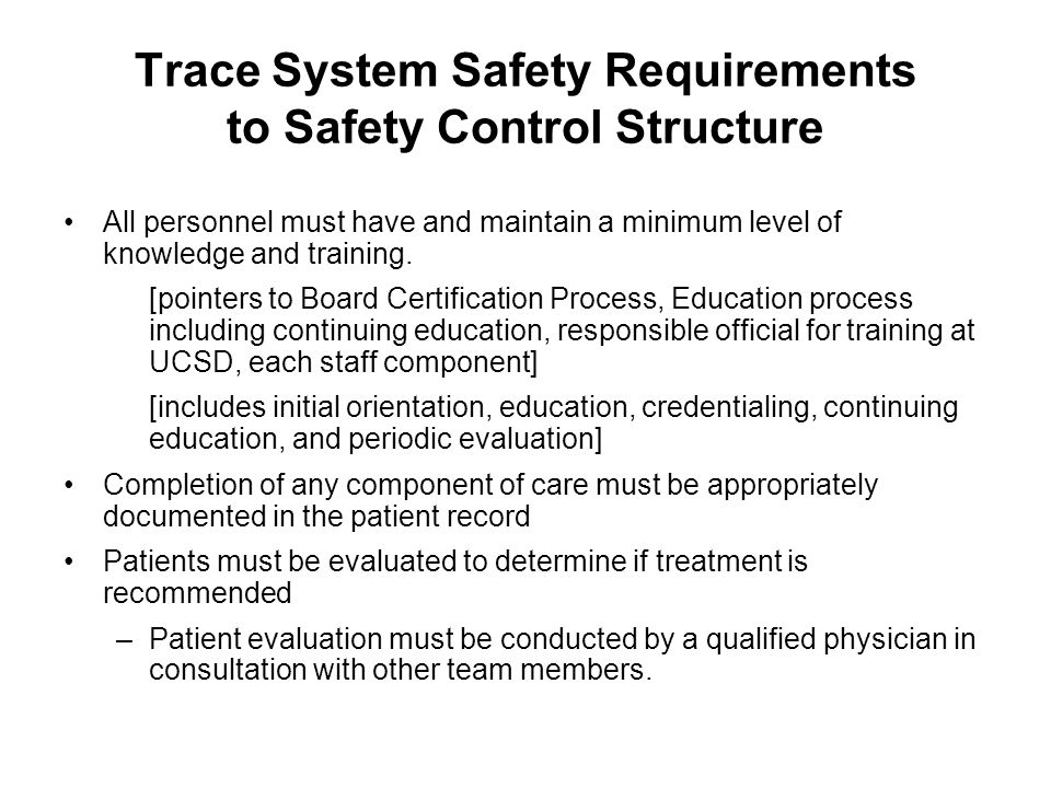 Trace System Safety Requirements to Safety Control Structure