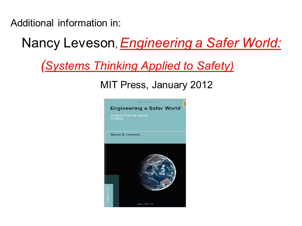 (Systems Thinking Applied to Safety)