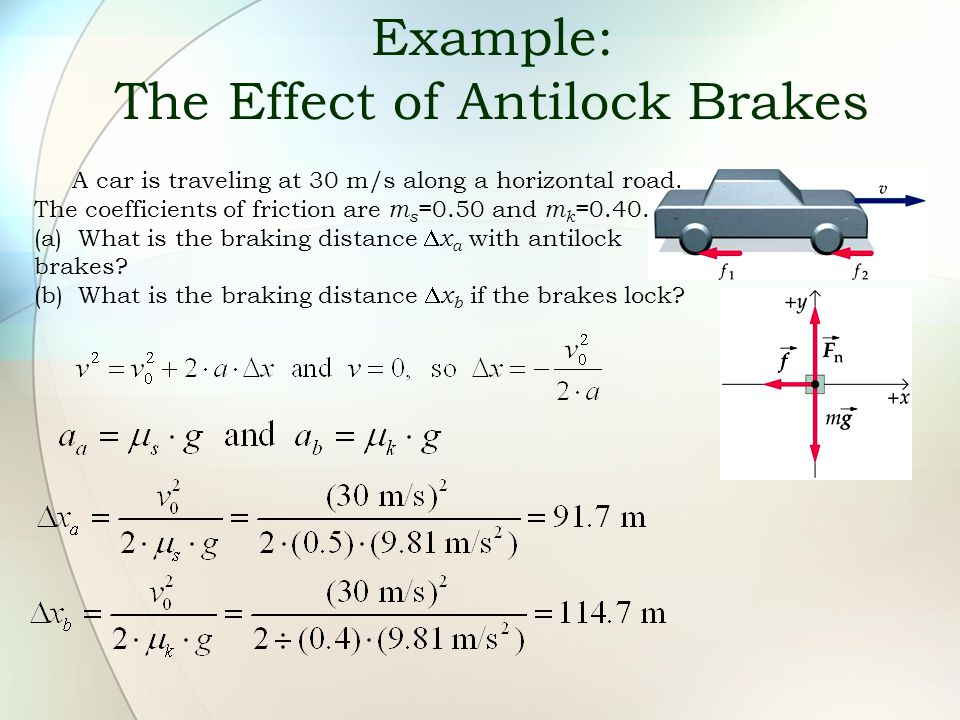 Example: The Effect of Antilock Brakes
