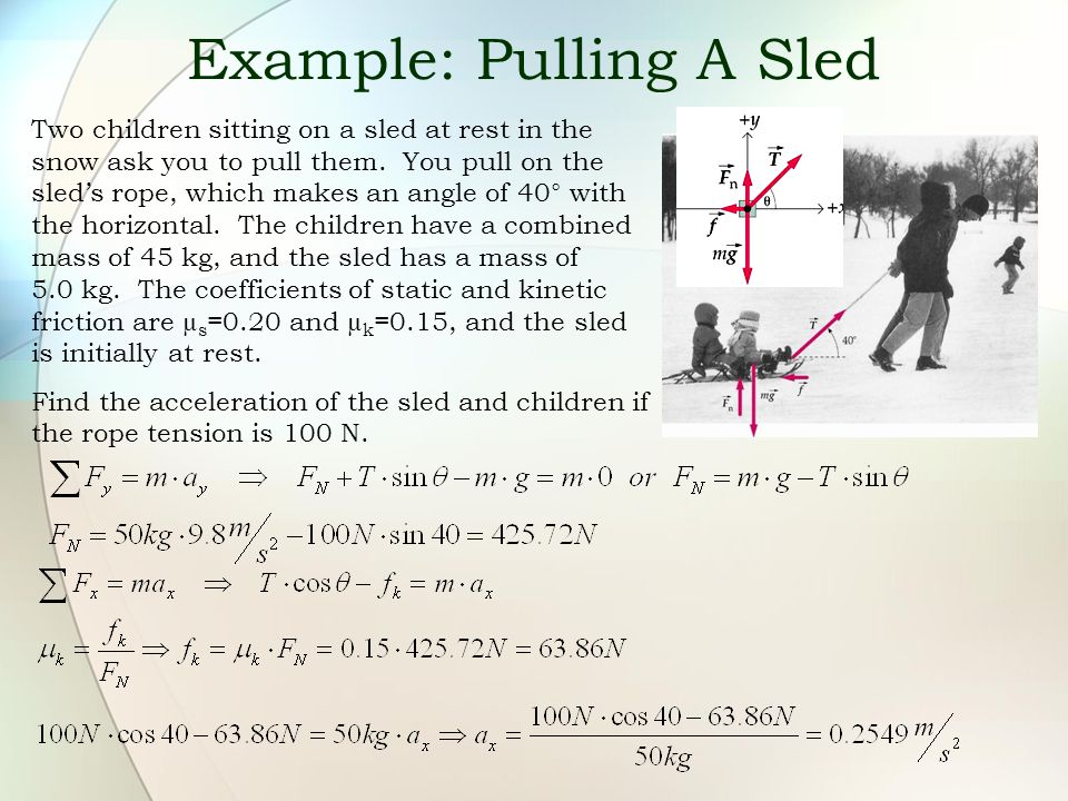 Example: Pulling A Sled