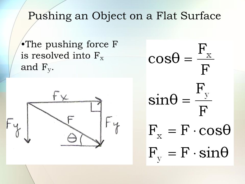 Pushing an Object on a Flat Surface