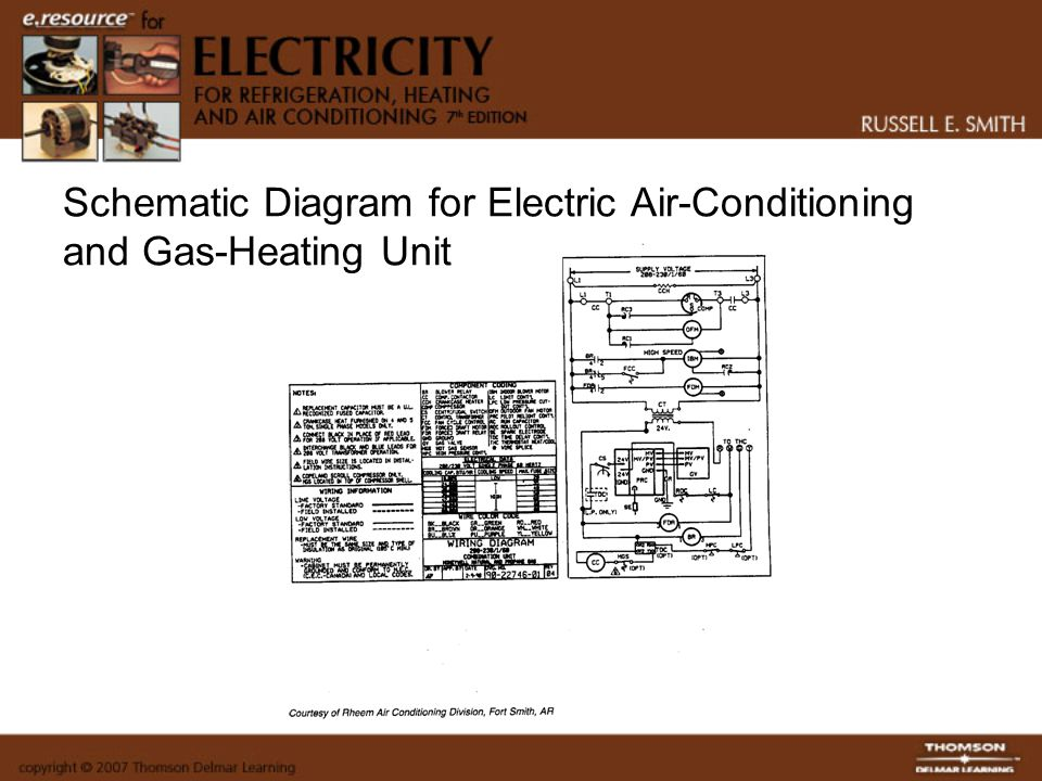 Schematic Diagram for Electric Air-Conditioning and Gas-Heating Unit