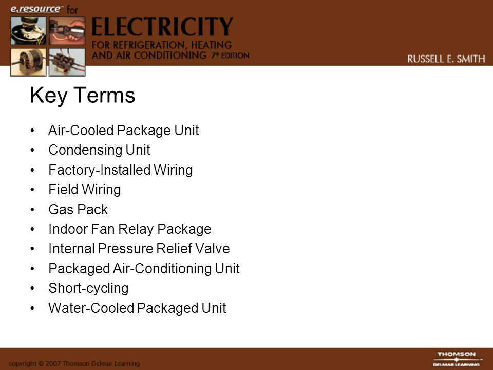 Key Terms Air-Cooled Package Unit Condensing Unit