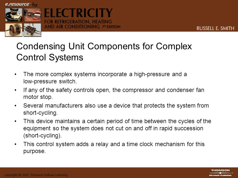 Condensing Unit Components for Complex Control Systems