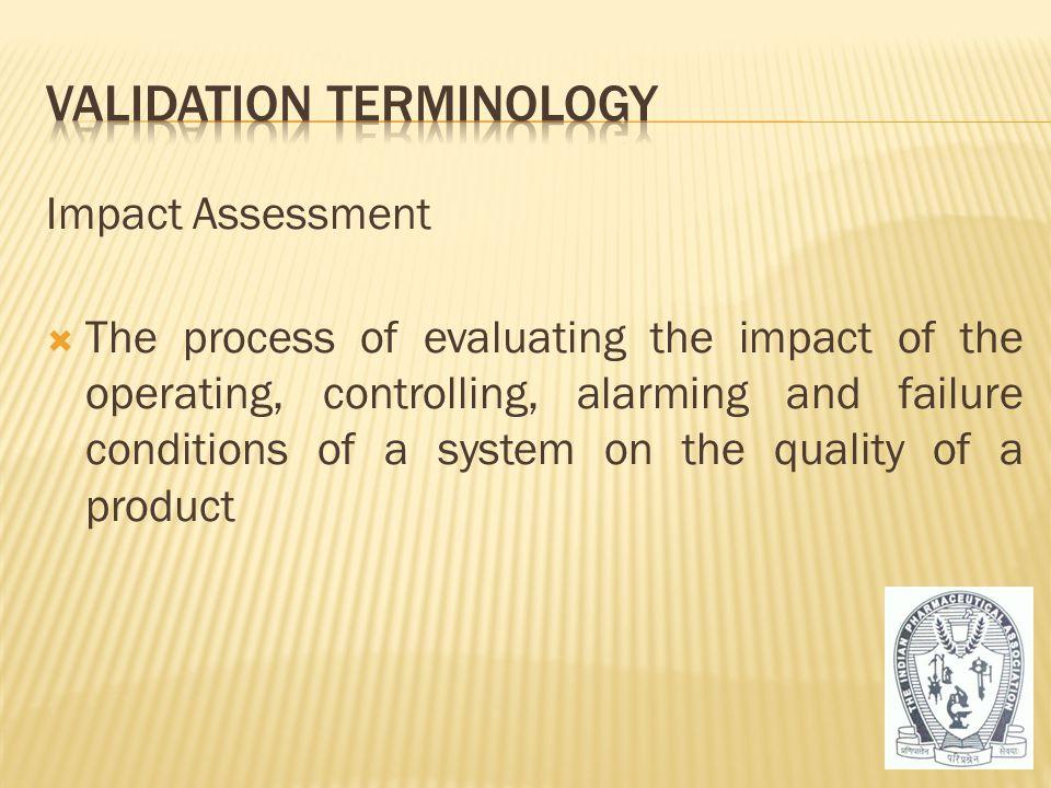 Validation Terminology
