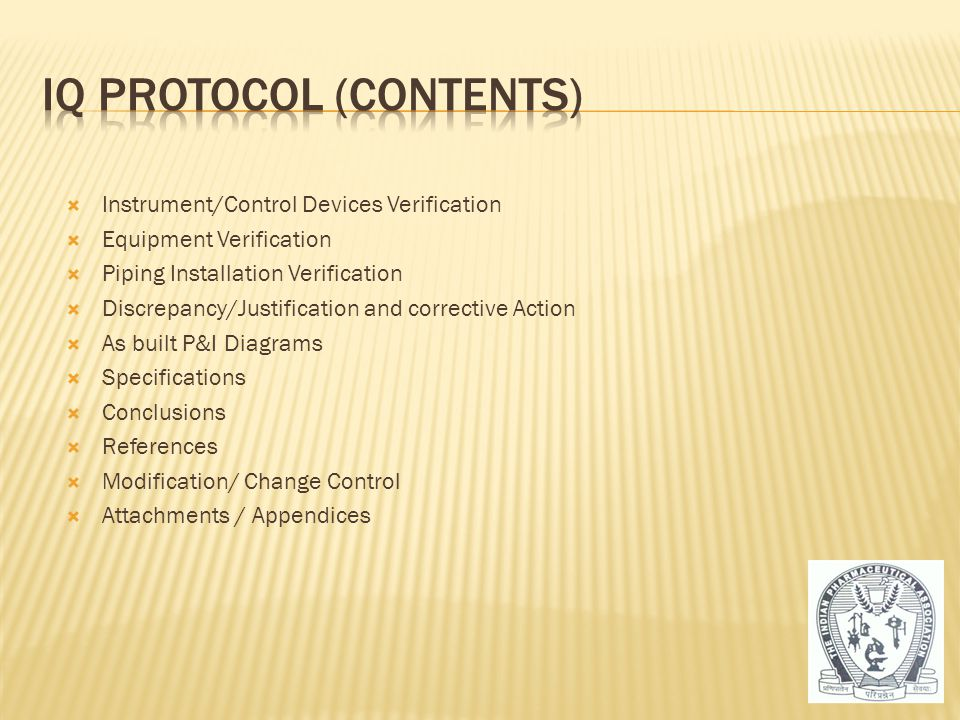 IQ Protocol (Contents)