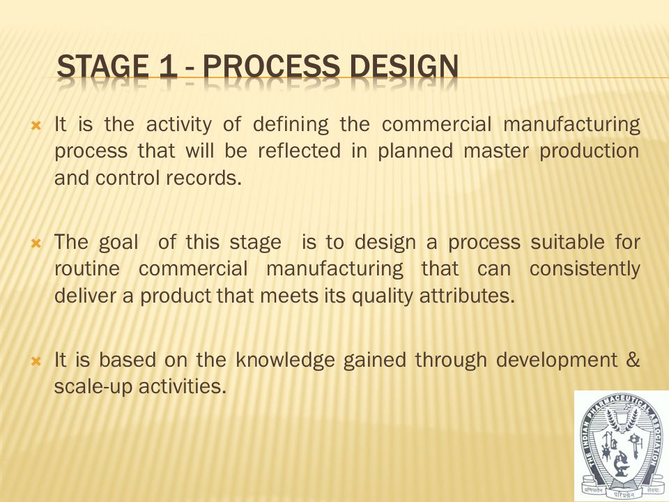 Stage 1 - ProcesS dESIGN