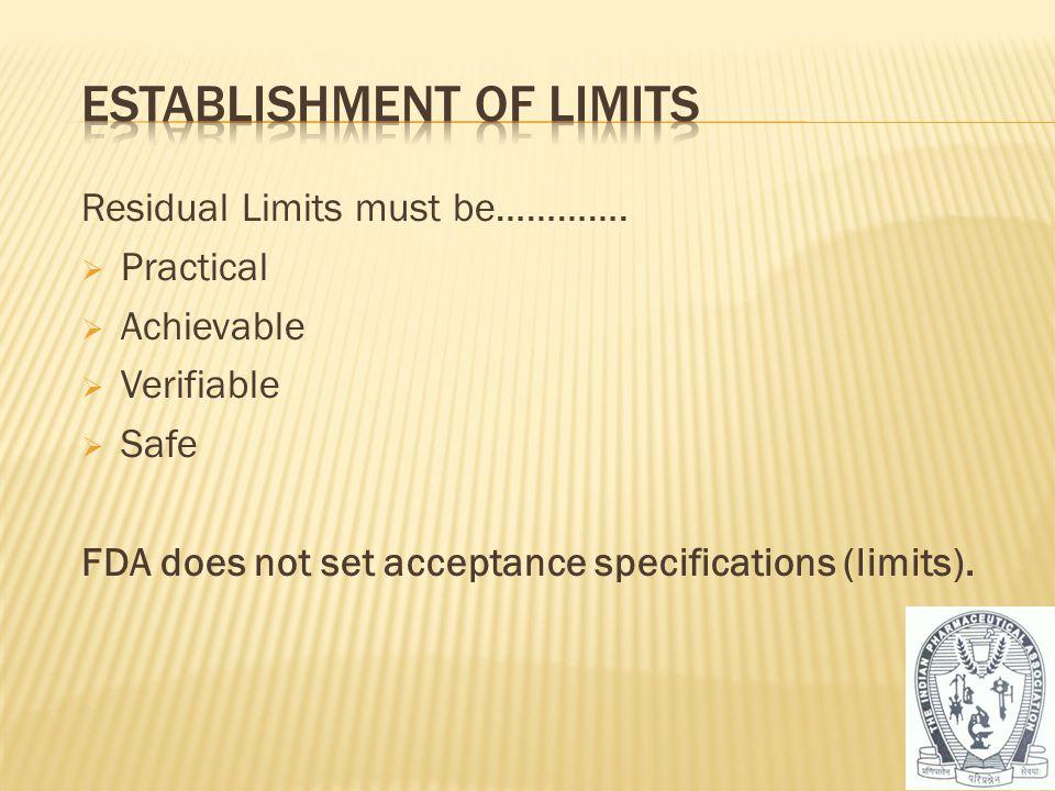Establishment of Limits