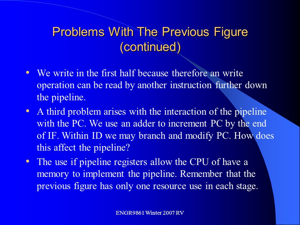 Problems With The Previous Figure (continued)