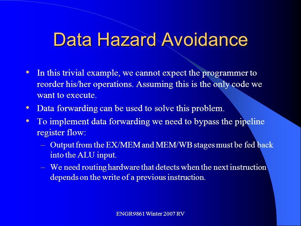 Data Hazard Avoidance