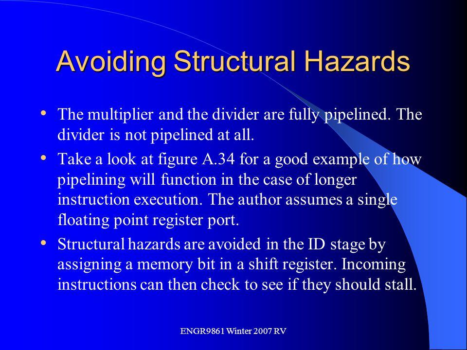 Avoiding Structural Hazards