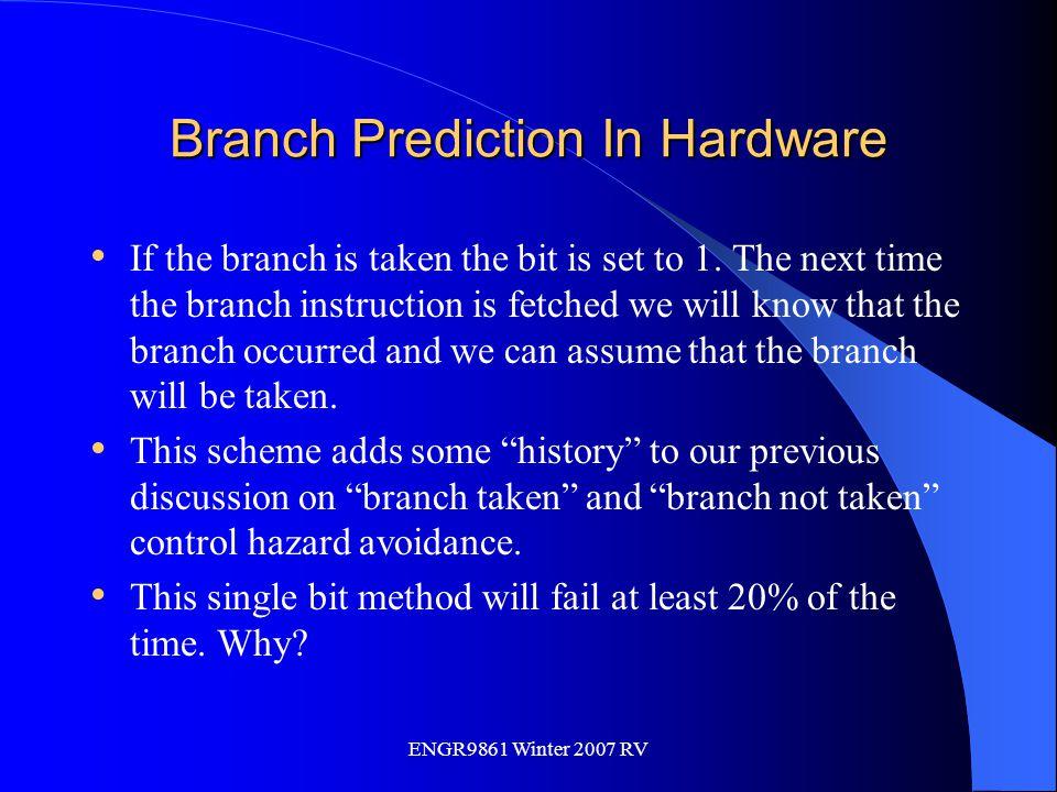 Branch Prediction In Hardware