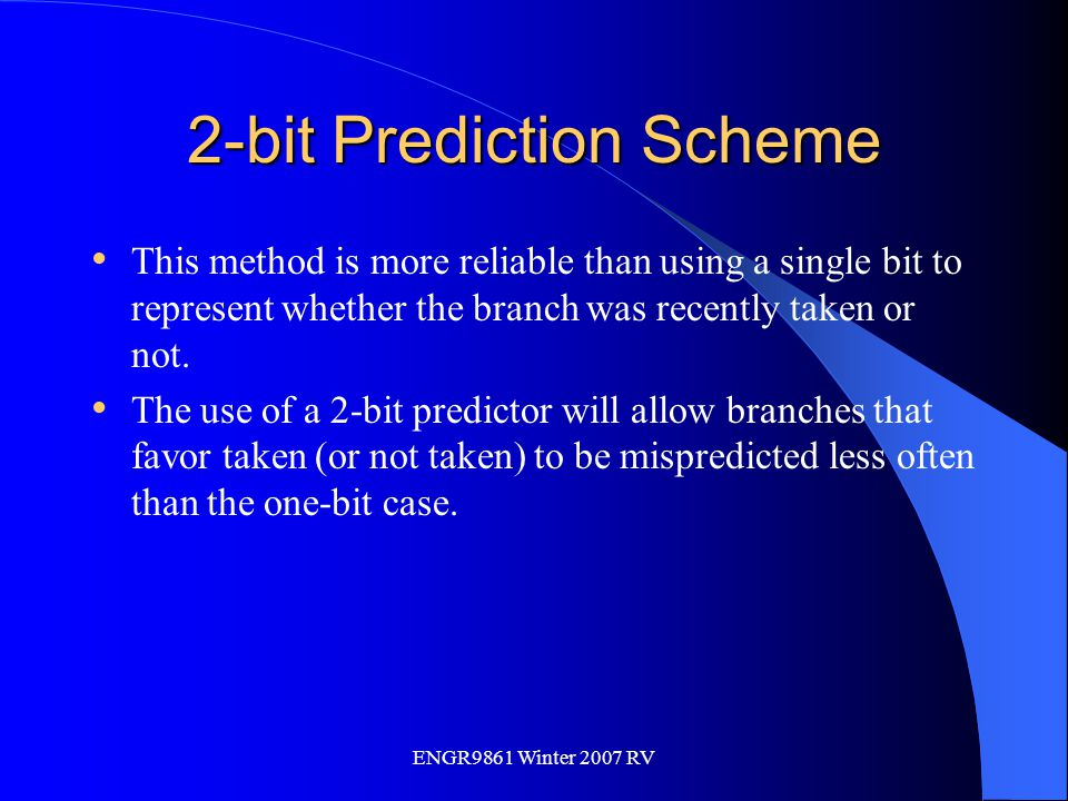 2-bit Prediction Scheme