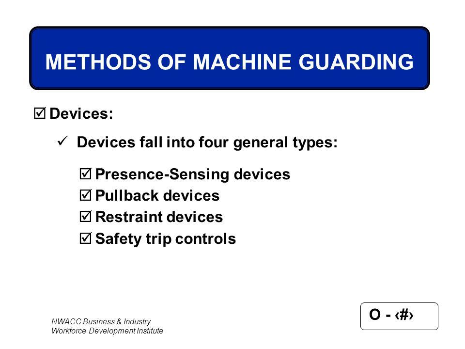 METHODS OF MACHINE GUARDING