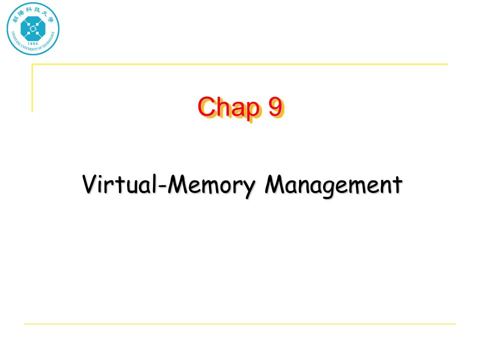 Virtual-Memory Management