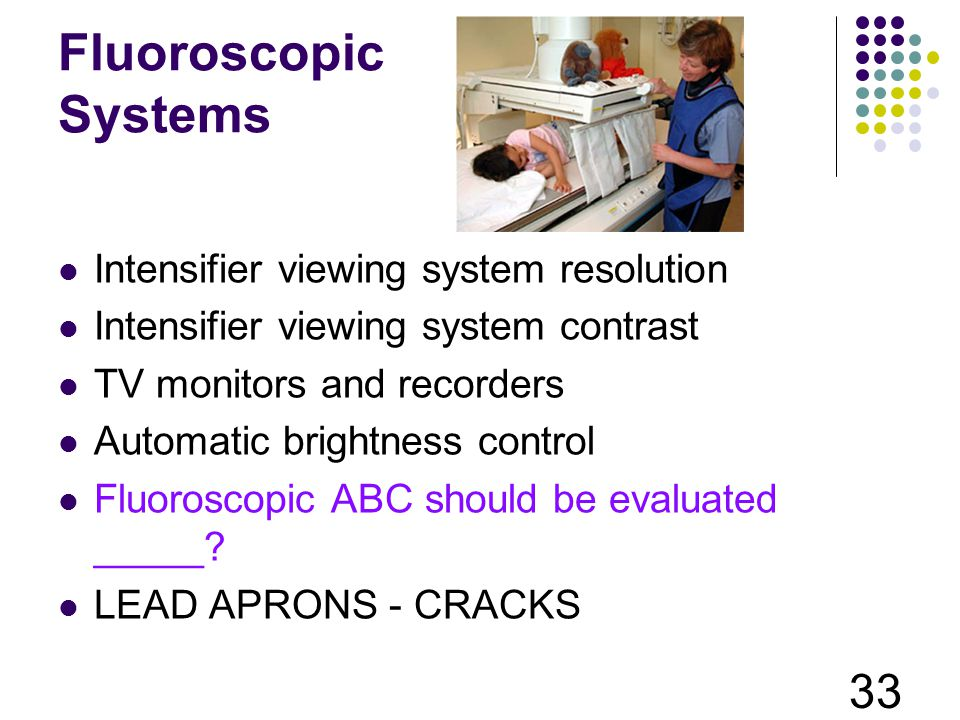 Fluoroscopic Systems Intensifier viewing system resolution