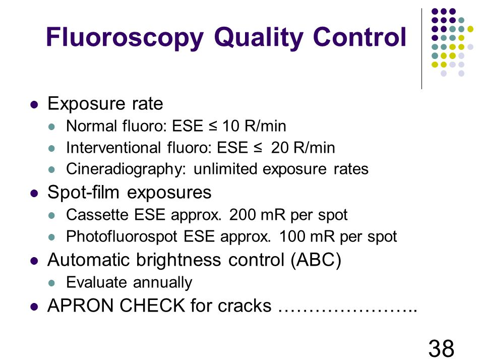 Fluoroscopy Quality Control