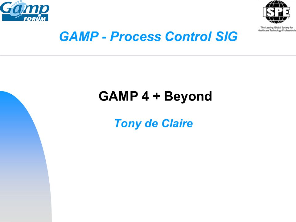 GAMP - Process Control SIG