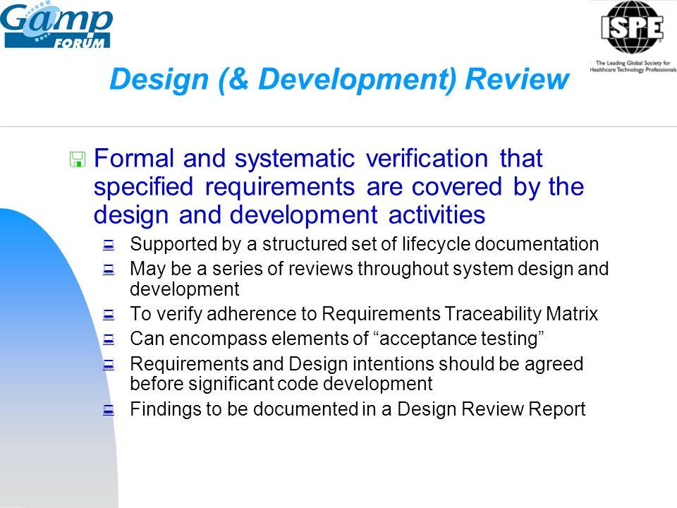 Design (& Development) Review