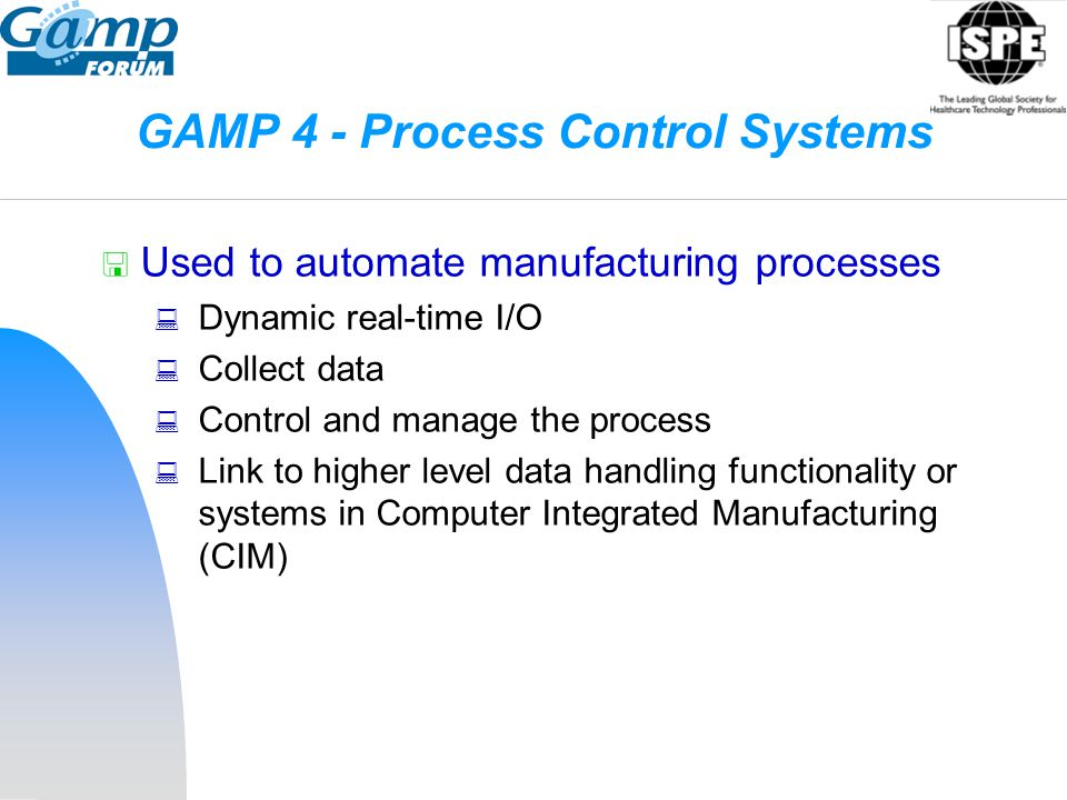 GAMP 4 - Process Control Systems