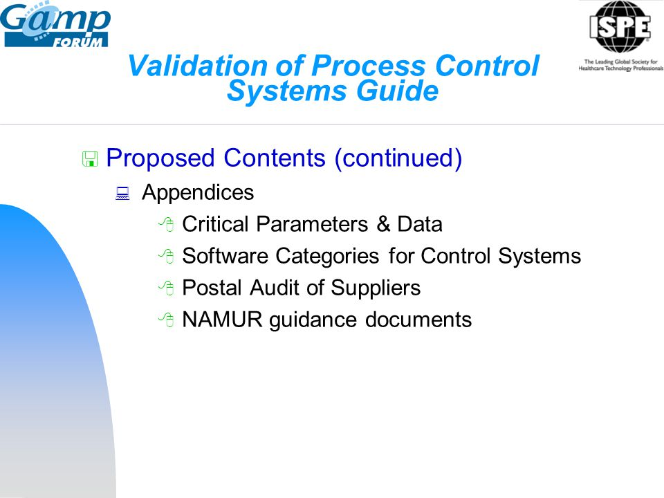 Validation of Process Control Systems Guide