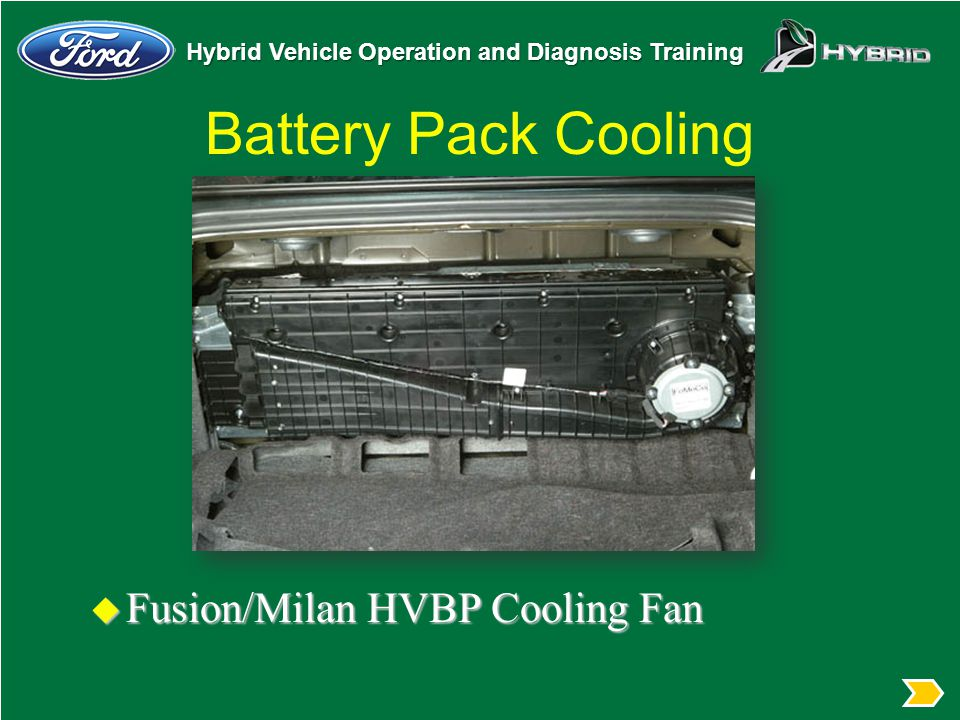 Battery Pack Cooling Fusion/Milan HVBP Cooling Fan