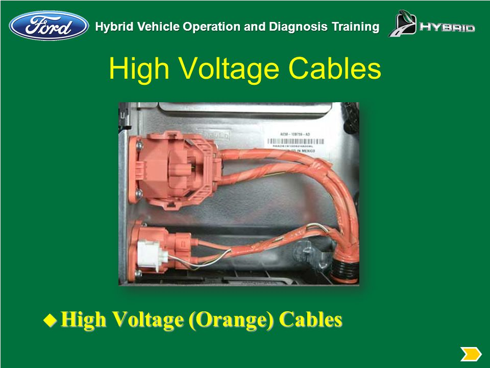 Hybrid High Voltage Wire Color : Hybrid vehicle operation and diagnosis course code n t