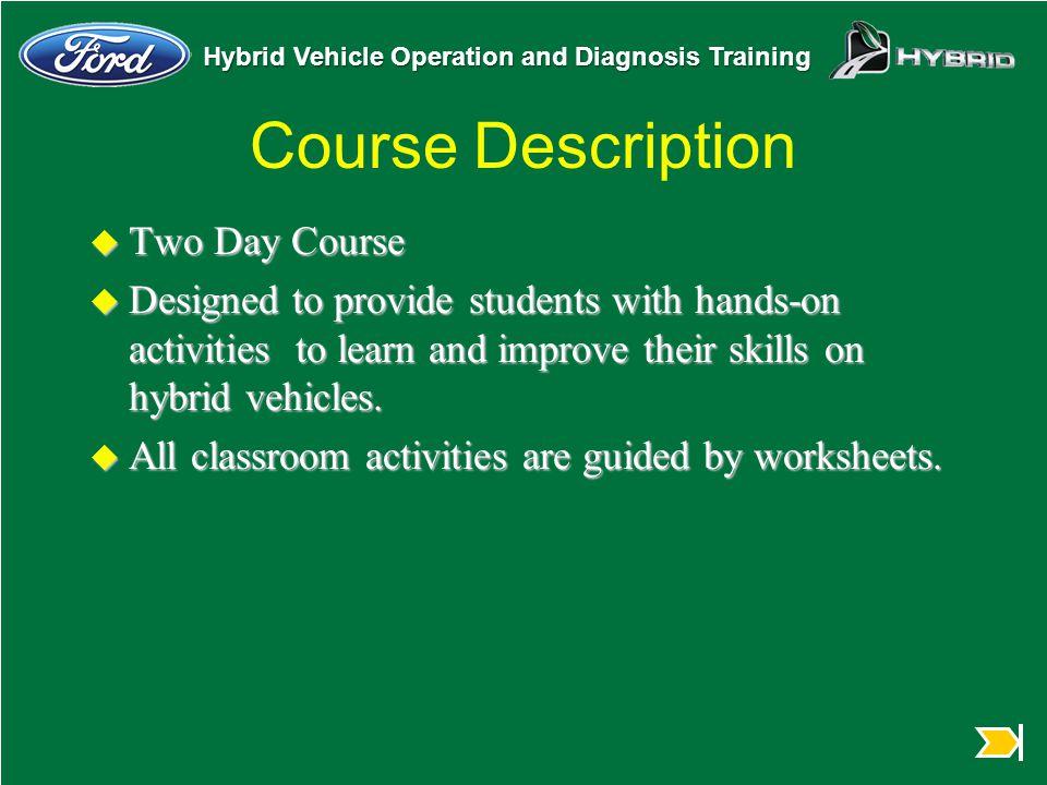 Course Description Two Day Course